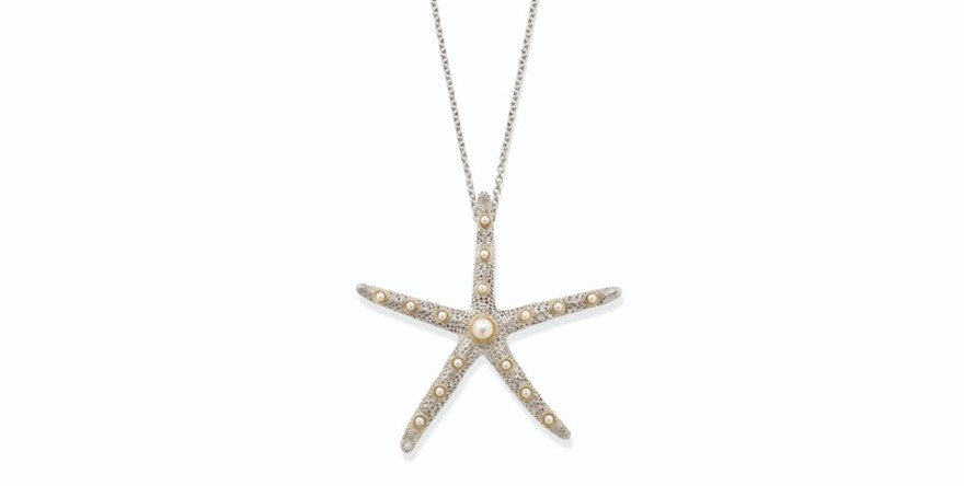 MRN 017 Plus Grande Starfish Pendant Pearl with Gold.jpg